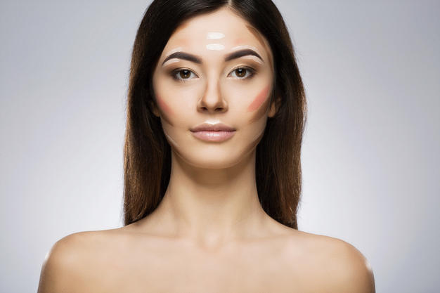 different shades of contouring make up