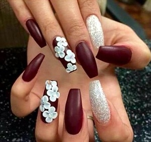 3d nails designs images nail art and nail design ideas 7 3d nail designs to make you stand out red nails and white flowers prinsesfo images prinsesfo Choice Image