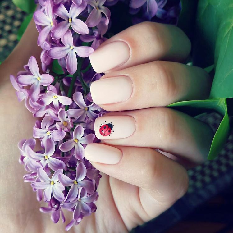 nail design trends nude nails ladybugs spring 2018