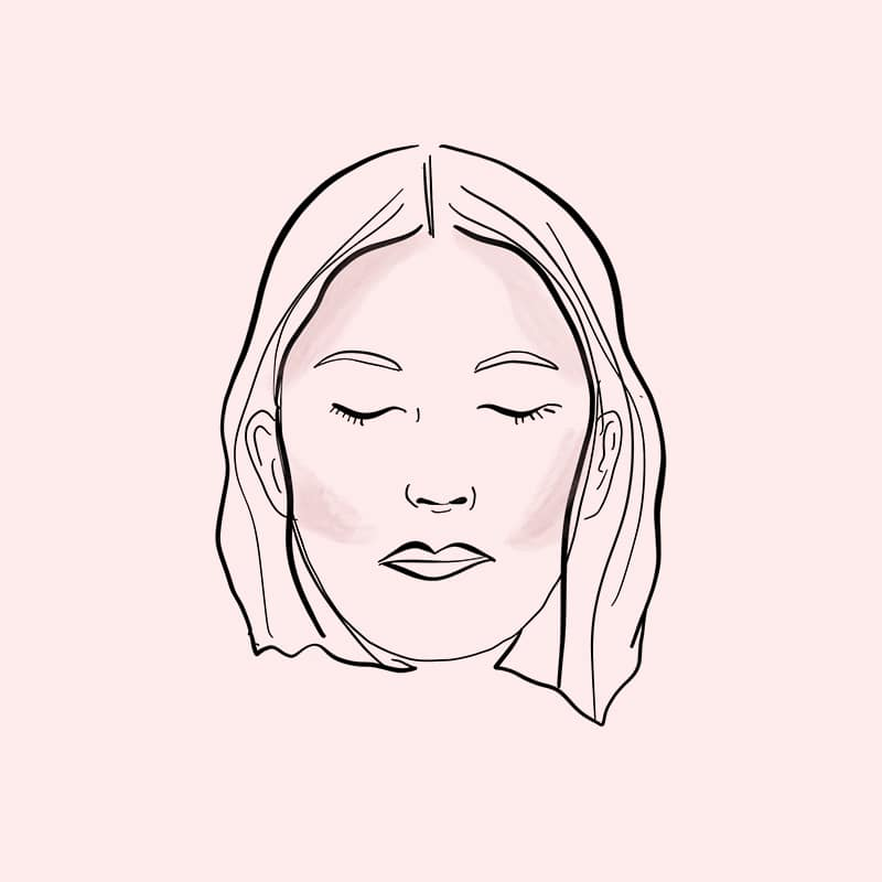 contour face chart oval shaped face