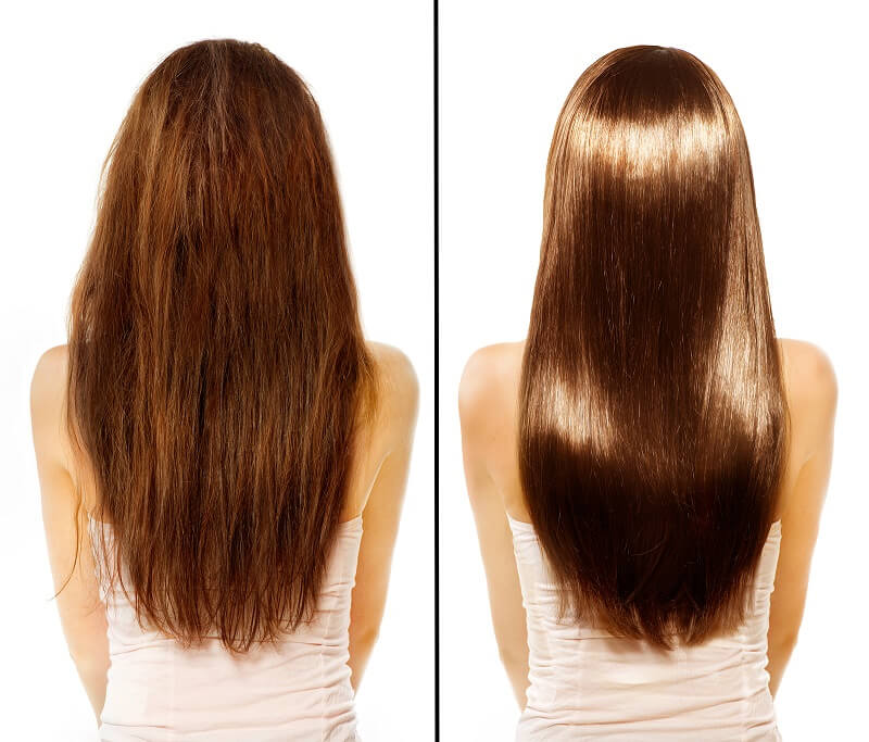 before and after hair botox procedure