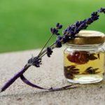 essential lavender oil jar