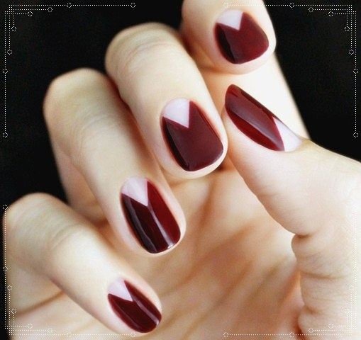 reverse french tip for an elegant look