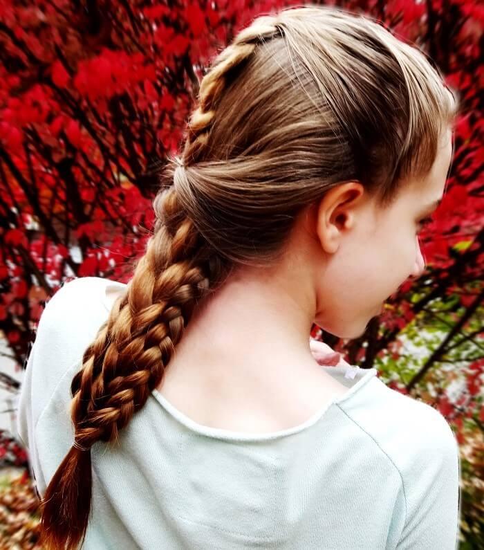 four strand braid hairstyle