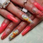 long colorful nails