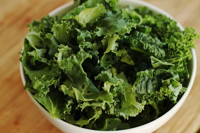kale leaves as a healthy anti-aging remedy