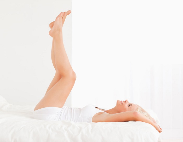 girl with her legs up