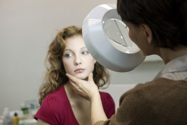 a woman having a medical consultation