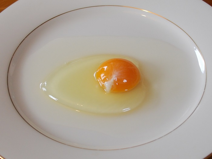 an egg white on a plate