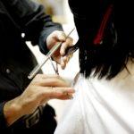 girl in kids hair salon