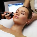 a female patient having a beauty treatment done