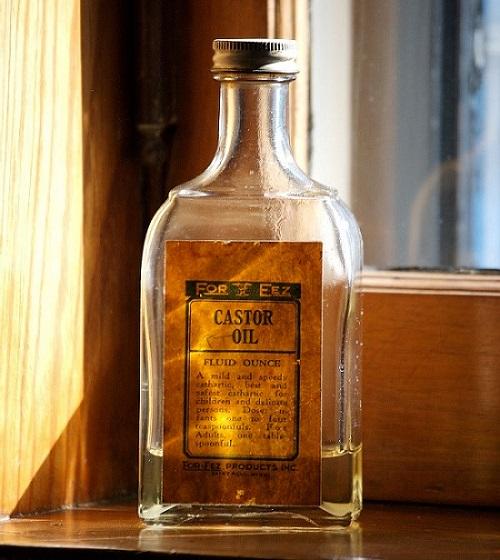 a bottle of castor oil
