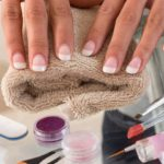 french manicure on a woman's hands