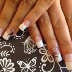 square nails with a French manicure