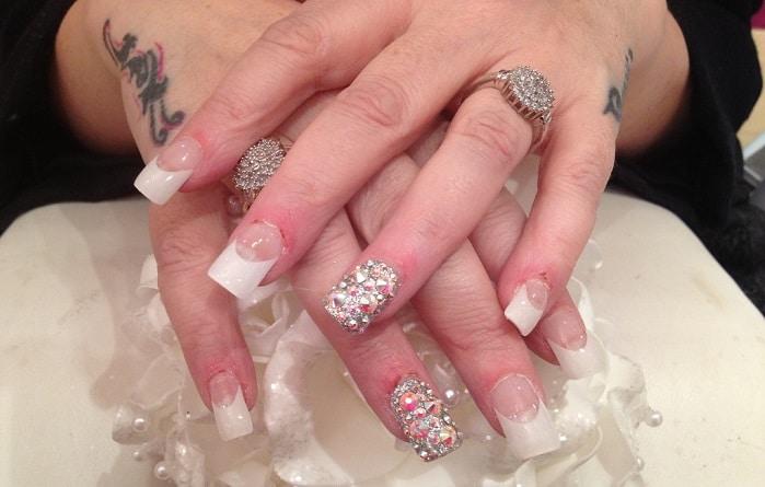 acrylic French nail tips