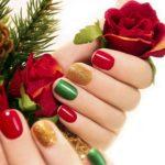 beautiful multicolored manicure