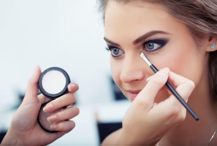 a beautiful woman with eye makeup