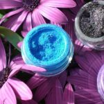 blue and black makeup pigments