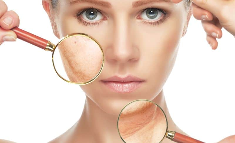 Skin Problems Magnifying Glass