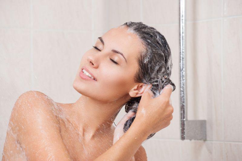 Woman Shampooing