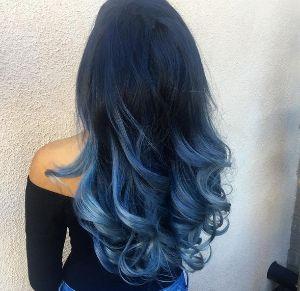 Long Icy Blue Curls