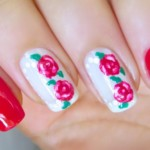 Spring Nail Art with Flowers