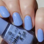 Glitter Periwinkle Nails