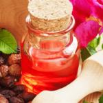 rosehip oil in a flask
