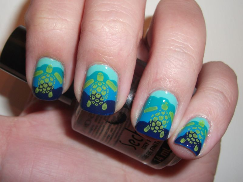 Turtle Manicure Designs