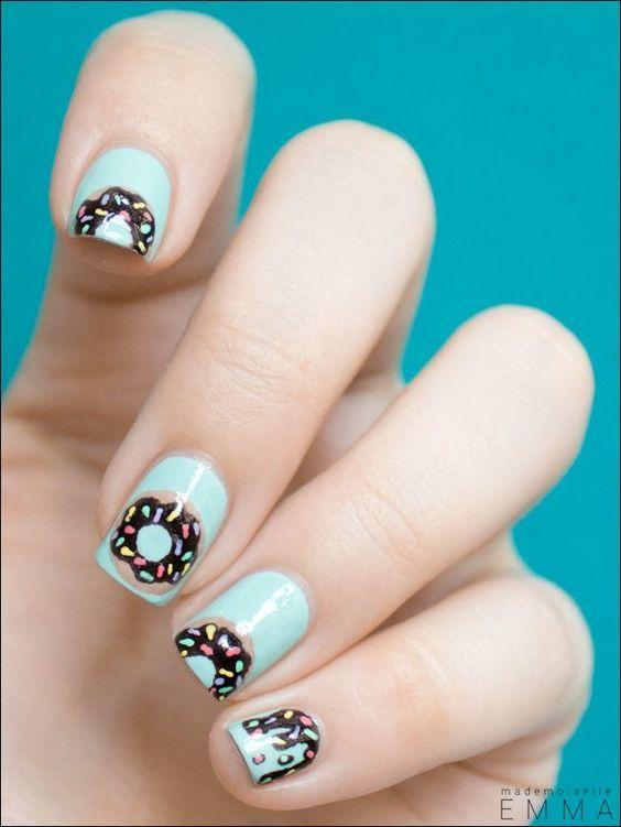 donut nail design