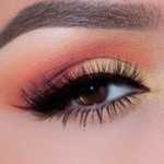 French Marigold Color Eye Makeup