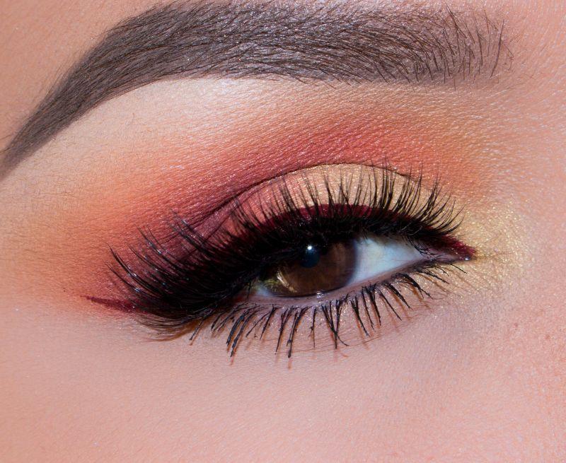 French Marigold Color Eye Makeup