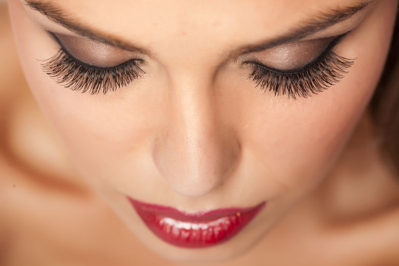 Woman with Long Lashes