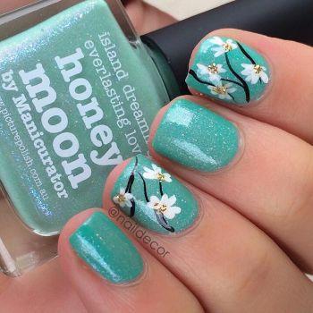 flower turquoise