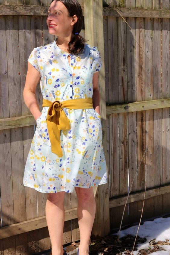 marigold ribbon dress
