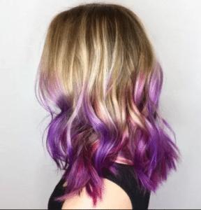 purple ombre hair