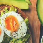 avocado toast with eggs on it