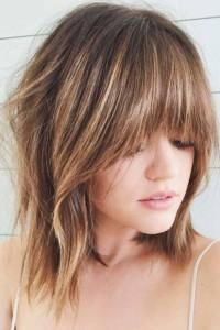 bangs short hairstyle