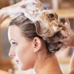 Woman and shampoo