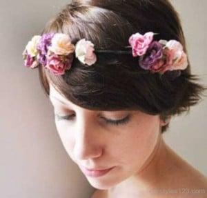 flowers short hairstyles