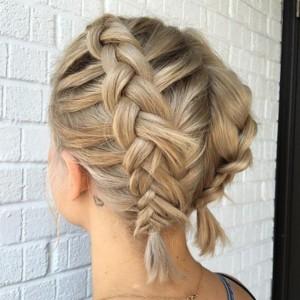 short hairstyle braids