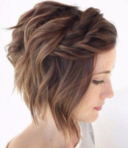 simple updo short hairstyle