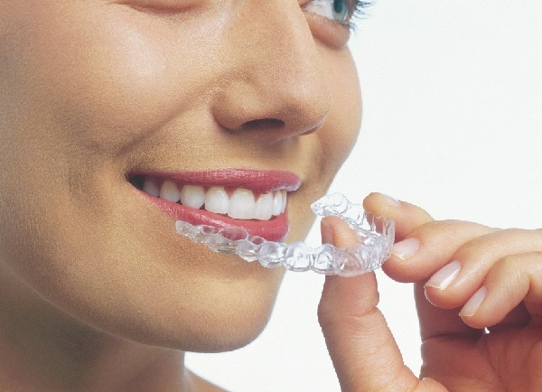 Woman wearing Invisalign