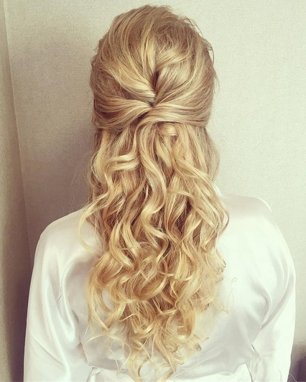 top half up half down wedding hairstyles to try