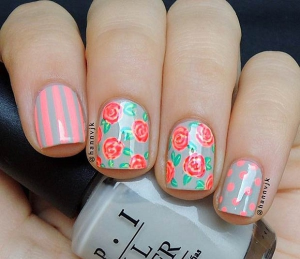 6 Flower Nail Designs To Wear In 2017