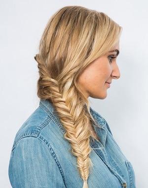 Fishtail on blonde hair