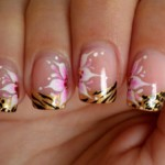 french tip nail designs for short nails abstract art