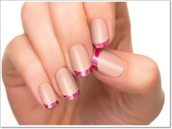 french tip nail designs for short nails nude nails colored tips - 5 French Tip Nail Designs For Short Nails