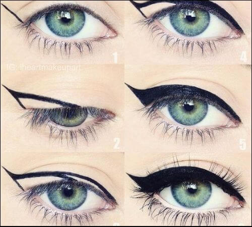 Step by step guide to cat eye makeup