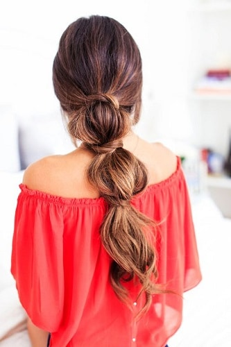 easy casual hairstyles bubble braid